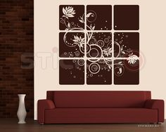 Sticker decorativ Flori gemene - Tablou Floral