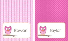 Free printable name tags for the little ones