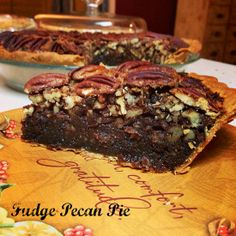 Fudge Pecan Pie ~ amazing! | 5DollarDinners