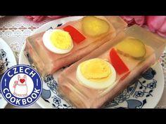 Czech Cookbook - Video Recipes in English - US Measurements - US Ingredients   Ham Rolls in Gelatin – Šunkové závitky v aspiku