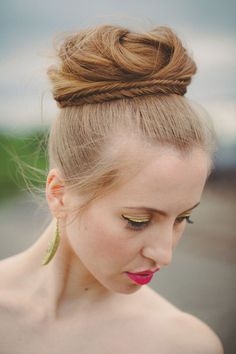 Beautiful Braided Top Up-do Hairstyle