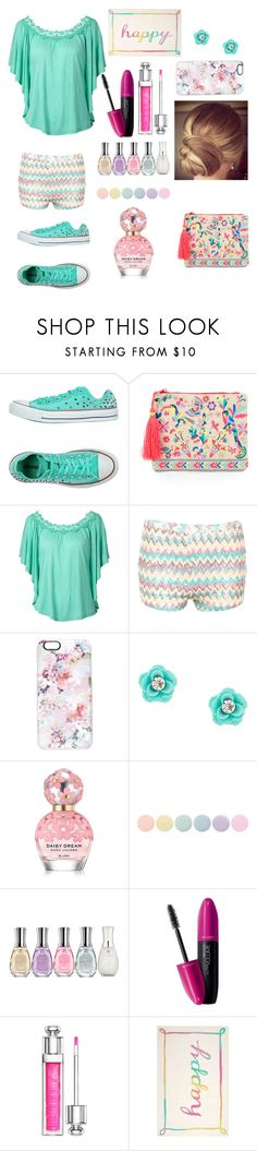 """Happy S."" by deandrea04 on Polyvore featuring moda, Converse, Accessorize, Pilot, Casetify, Marc Jacobs, Deborah Lippmann, Sally Hansen, Revlon y Christian Dior"