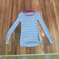 Sparkly Stripped Sweater Sparkly Stripped Sweater, long sleeved, size xs, in God condition Willow & Clay Sweaters Crew & Scoop Necks