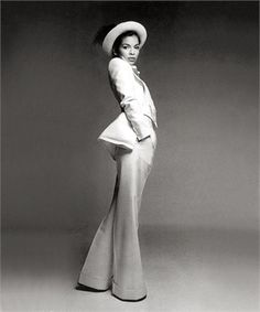 Bianca Jagger. The White Pantsuit that defined them all.
