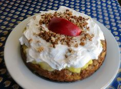 Yum... Id Pinch That! | Apples and oranges torte. apple cake orange curd and cream cheese and whip cream frosting.