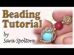 BeadsFriends: beading tutorial - How to make beaded earrings - DIY earrings - YouTube