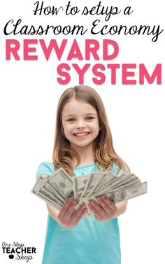 A Classroom Economy Reward System can help with classroom management and behavior management. See how I use an economy system to motivate my students. (Grab the free student checkbook) Classroom Economy System, Classroom Incentives, Classroom Procedures, Classroom Behavior, Classroom Organization, Classroom Management, Class Management, 5th Grade Classroom, School Classroom