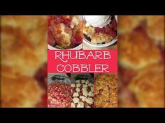 My husband requested this Rhubarb Cobbler and I was pleasantly surprised! It tasted like a sweet/tart, gooey/rich cherry like cobbler! Rhubarb Cookies, Rhubarb Desserts, Rhubarb Recipes, Just Desserts, Rhubarb Muffins, Rhubarb Cobbler, Rhubarb Rhubarb, My Favorite Food, Favorite Recipes