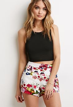 Floral Print Shorts | Forever 21 - 2000097854