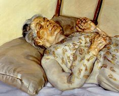 Lucian Freud, The Painter's Mother Resting III, 1977, oil on canvas, 69.2 x 59.1 cm.
