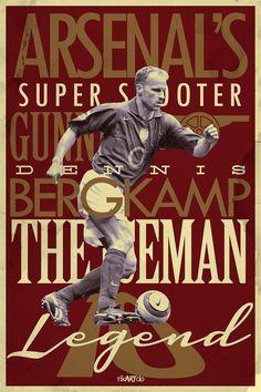 Football Posters by Ricardo Mondragon, via Behance Logo Arsenal, Arsenal Fc Players, Arsenal Football, Arsenal Club, Soccer Art, Football Art, Football Players, Soccer Poster, Vintage Football