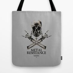 Metal Resistance Tote Bag by Faintness graphics - $22.00