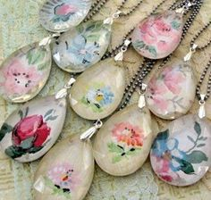 DIY a necklace: 16 easy to decoupage projects - Mod Podge Rocks