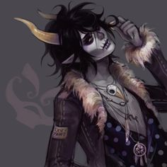 Gamzee Makara-this reminds me of Johnny Depp (This actually looks like it's supposed to be Kurloz)