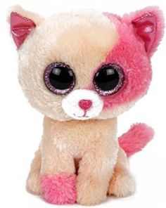 Ty Beanie Boos Anabelle - Cat (Barnes & Noble Exclusive) - Beanie Boos are tall. They are made from Ty's best selling fabric - Ty Silk, and are created with fantastic custom eyes. Peek-a-Boo they want to come home with you. Ty Animals, Plush Animals, Ty Babies, Beanie Babies, Big Eyed Stuffed Animals, Ty Beanie Boos Collection, Ty Peluche, Ty Boos, Lil Sweet