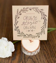 Wedding Reception Menu Cards, Set of 10 by Alison Kate Design on Scoutmob Shoppe