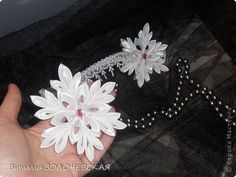 PHOTO ONLY, SNOWFLAKE! Crafts, and jewelry Tsumami Kanzashi: My snowflakes))))))) and something else))) Tapes New Year.  Photo 5