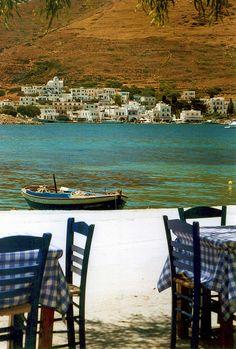 Xilokeratidi waterfront, Amorgos island, Cyclades, Greece