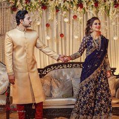 at Sister wedding! Pakistani Party Wear Dresses, Pakistani Wedding Outfits, Indian Gowns Dresses, Pakistani Wedding Dresses, Abaya Fashion, Indian Fashion, Fashion Dresses, Women's Fashion, Black Bridal Dresses