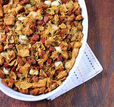 Tortilla chip-chorizo stuffing