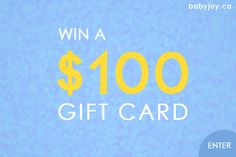 Win a $100 Gift Card @BabyJoy_ca. Ends 12/31. No Purchase Required. #Contest #giveaway #baby