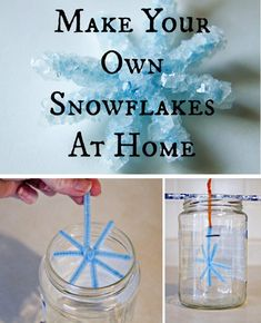 Cool DIY Projects for Homeschoolers | DIY Snowflakes by DIY Ready at http://diyready.com/cheap-and-easy-diy-projects-for-homeschoolers/