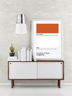 University Of Texas Longhorns Pantone Poster - UT Longhorn - Print, Boyfriend Gift, Fathers Day Gift - Orange And White
