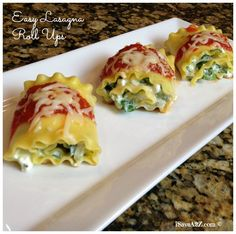 Easy Lasagna Roll Ups Recipe!  This one was really good!  Try it!