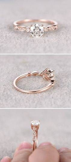 Pretty, delicate engagement rings