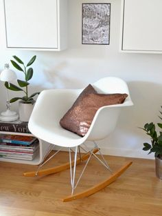 Kobber Rocking Chair, Living Room, Furniture, Home Decor, Modern, Chair Swing, Decoration Home, Room Decor, Rocking Chairs