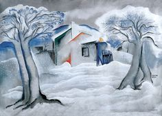 Bela Kadar - Winter Landscape, Early 1930s
