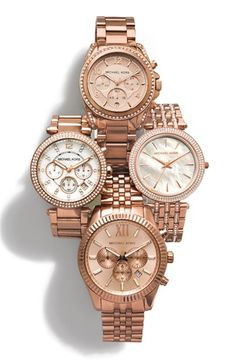 Michael Kors 'Darci' Crystal Bezel Bracelet Watch