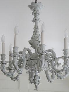 Acorn Lane Vintage Living: Views on vintage lighting. Chandelier For Sale, 3 Light Chandelier, Large Chandeliers, Chandelier Ideas, Italian Chandelier, Antique Chandelier, Antique Lighting, Baroque Design, Baroque Art