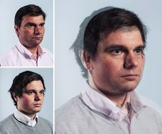 Boys And Their Fathers by Craig Gibson Overlapping portraits of...