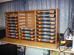 Picture of Electronics Components Storage
