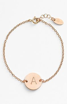 Nashelle 14k-Gold Fill Initial Disc Bracelet on Shopstyle.