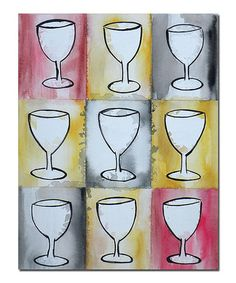 Take a look at this Wine on Repeat Canvas Art by Trademark Global on #zulily today!