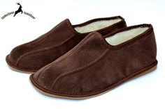 Brown Suede Slippers Shoes for Winter