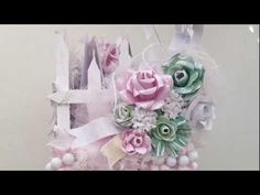 *Shabby Chic Picket Fence holder*-Oh my gosh this is so cute.