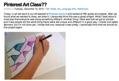 Pinterest art class. Students choose their projects