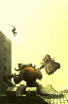 Dark Souls - Taurus Demon by e-h-macmillam Dark Souls 2, Arte Dark Souls, Dark Souls Memes, Demon's Souls, Dark Fantasy Art, Soul Saga, Bloodborne Art, Arte Indie, Monster