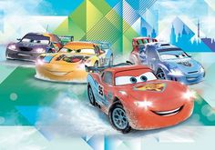 Large size wallpaper mural for youngest's room. Disney cars wall decoration…