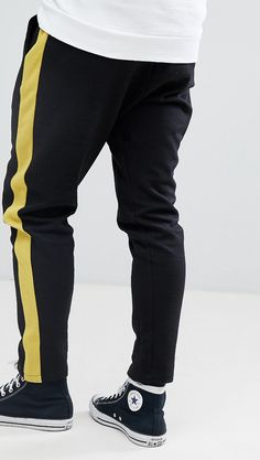 On my wishlist : Stradivarius Side Stripe Jogger In Black from ASOS #ad #men #fashion #shopping #outfit #inspiration #style #streetstyle #fall #winter #spring #summer #clothes #accessories