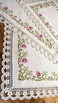 This Pin was discovered by Hür Cross Stitch Letters, Cross Stitch Borders, Cross Stitch Rose, Crochet Borders, Cross Stitch Samplers, Cross Stitch Flowers, Modern Cross Stitch, Cross Stitch Designs, Cross Stitch Embroidery