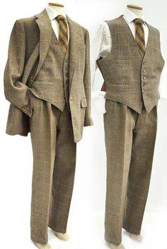 #vintage #1960s #tweed 3 piece suit #classic at Top Notch Vintage, Somerton TA11 7PY