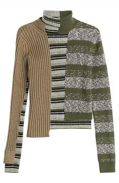 Asymmetrischer Patchwork-Pullover mit Wolle von Maison Margiela #Stylebop