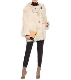 Lune white shearling coat