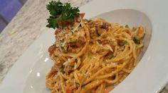 Espaguetis en salsa rosada con carne molida - Chef Edgardo Noel