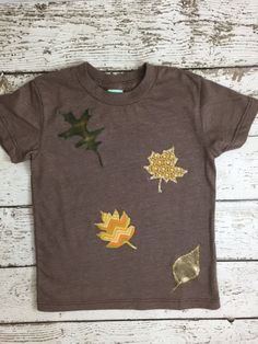 New lil threadz design posted! Fall inspired Children's tee perfect for Thanksgiving harvest festival apple picking Halloween Organic Shirt Blend plaid chevron fall leaves by lilthreadzclothing