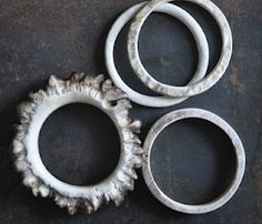 naturally shed moose antler bracelets | lostwaxstudio.com